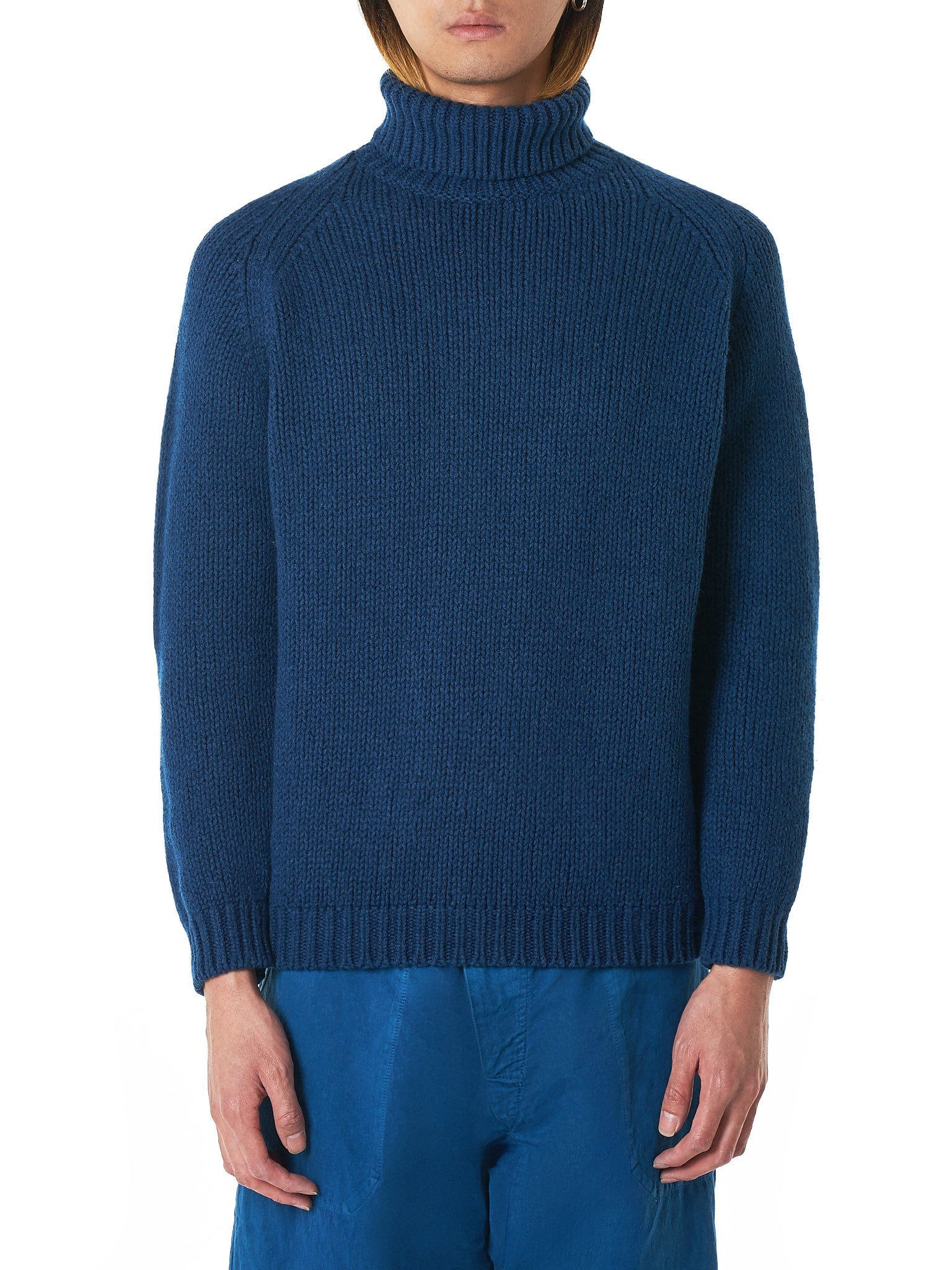Bleu de Cocagne Turtleneck Sweater - Hlorenzo Front