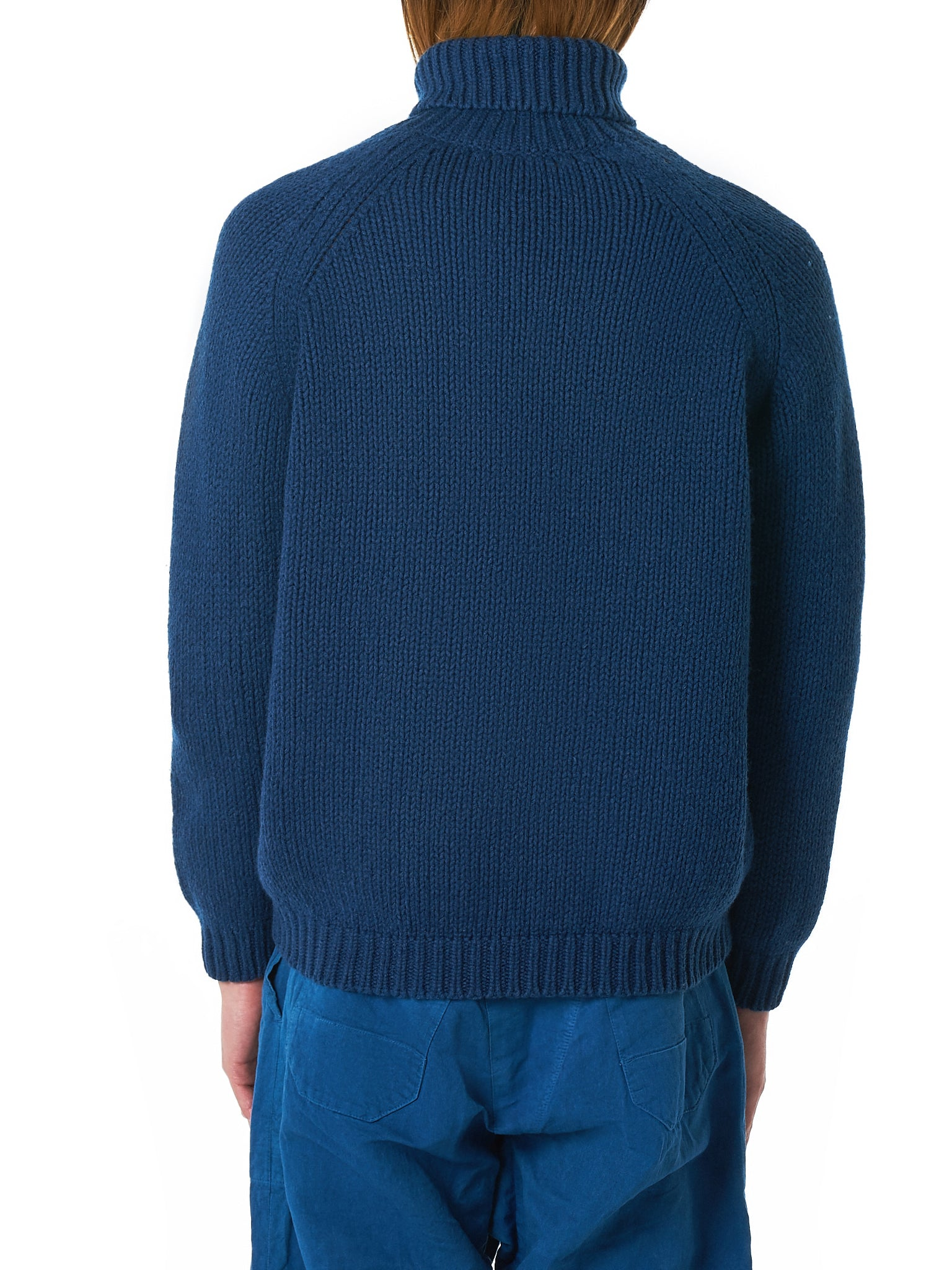 Bleu de Cocagne Turtleneck Sweater - Hlorenzo Back