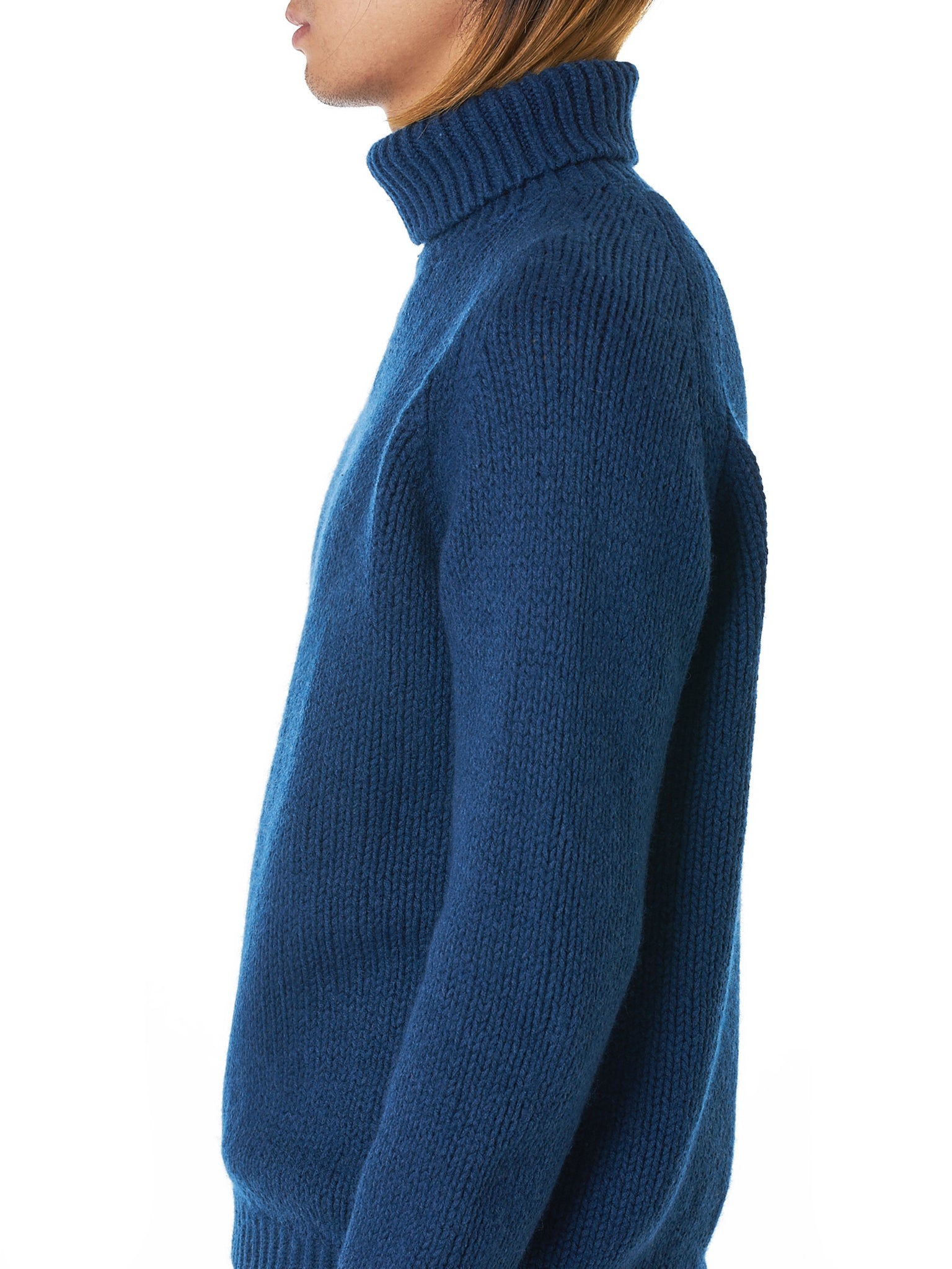 Bleu de Cocagne Turtleneck Sweater - Hlorenzo Detail 1