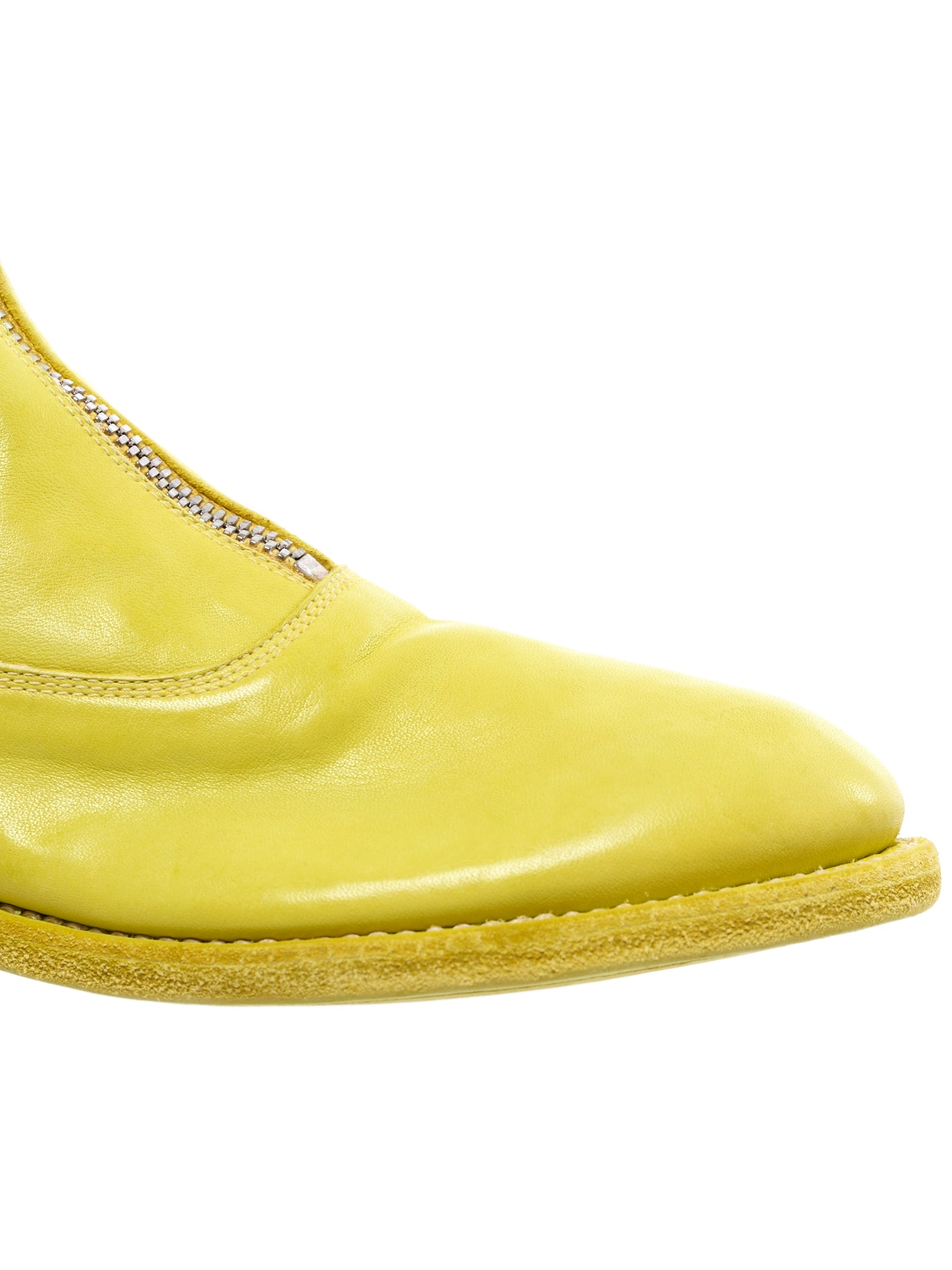 '310' Zip Leather Boot (310-SOFT-HORSE-FG-YELLOW)