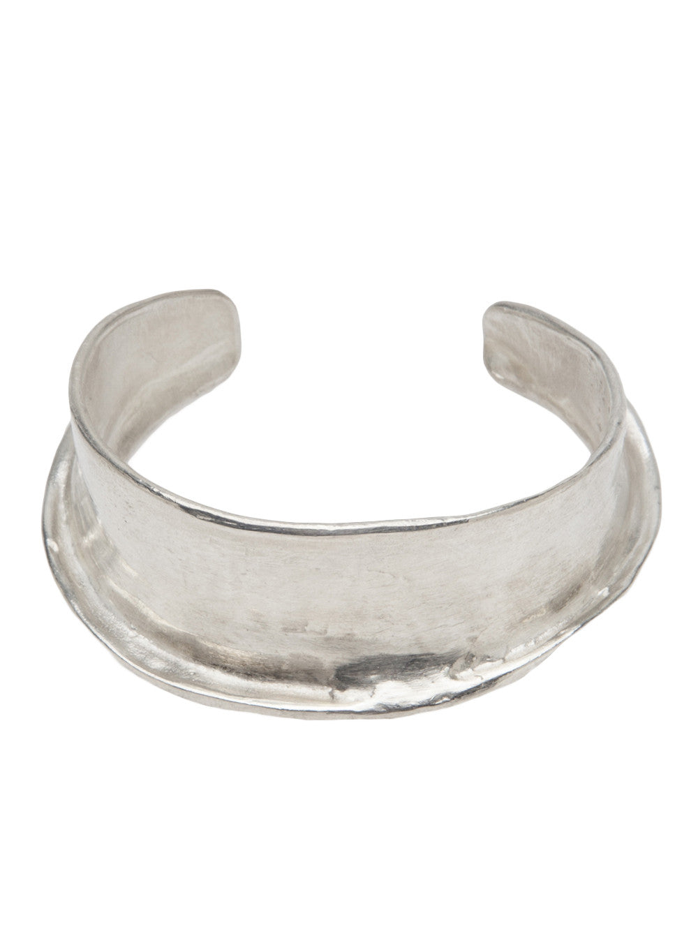 Sterling Silver Curved Tip Cuff (B-3 EDITION #22,23 SILVER) - H. Lorenzo