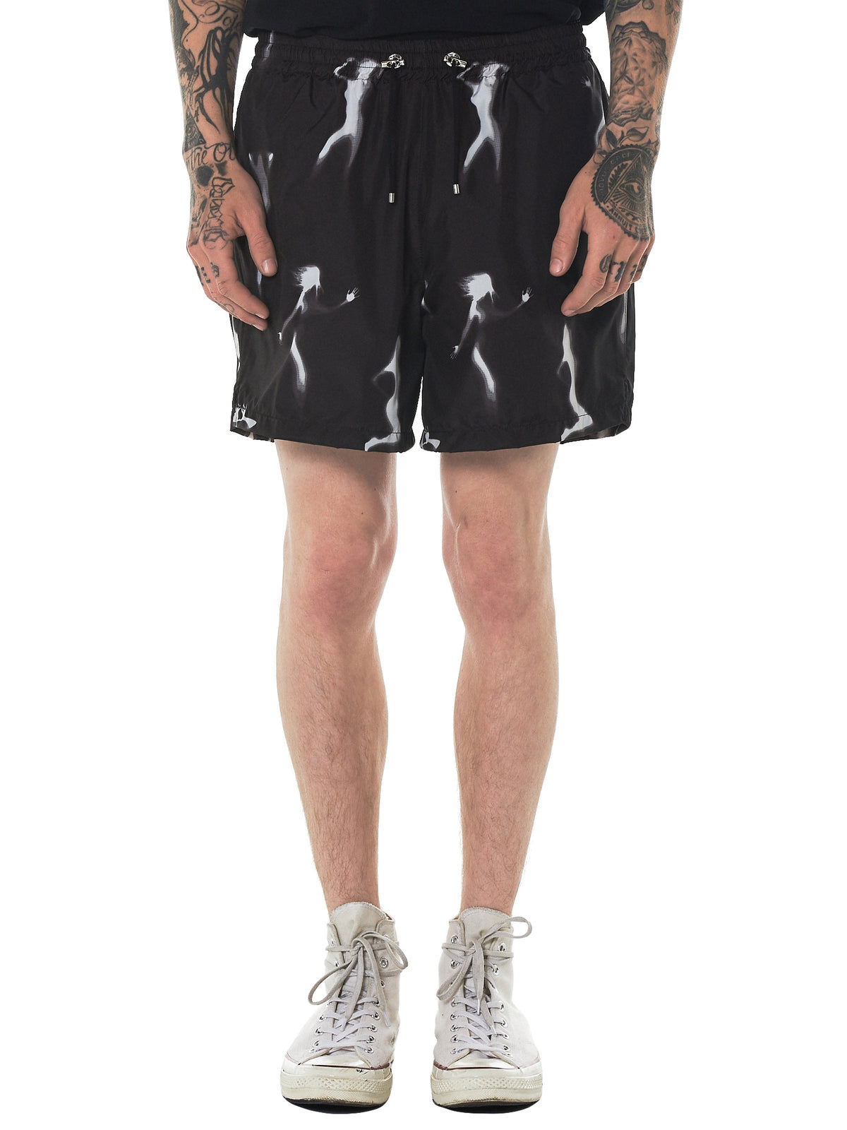 'Strippers' Print Shorts (313-STRIPPERS)