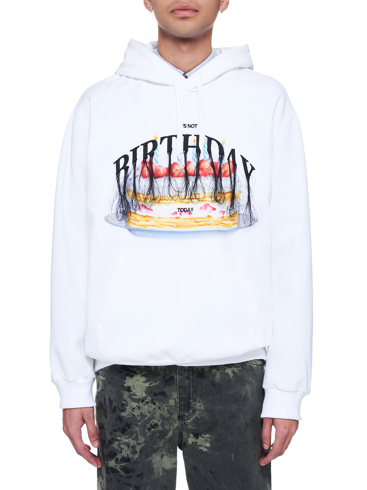 Not Anniversary Embroidery Hoodie (31CS176-WHITE)