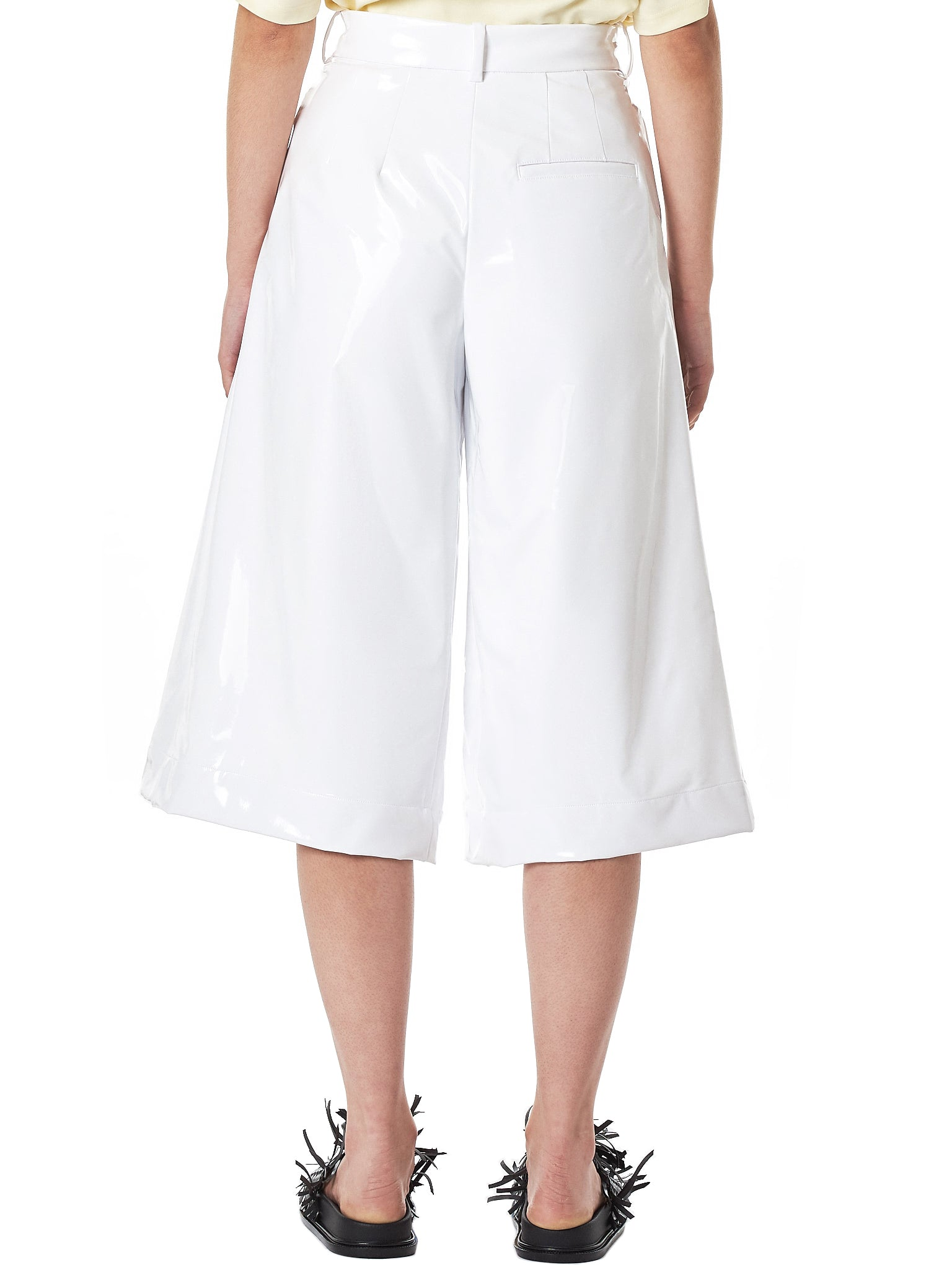 Coated Crop Trousers (32-WHITE)