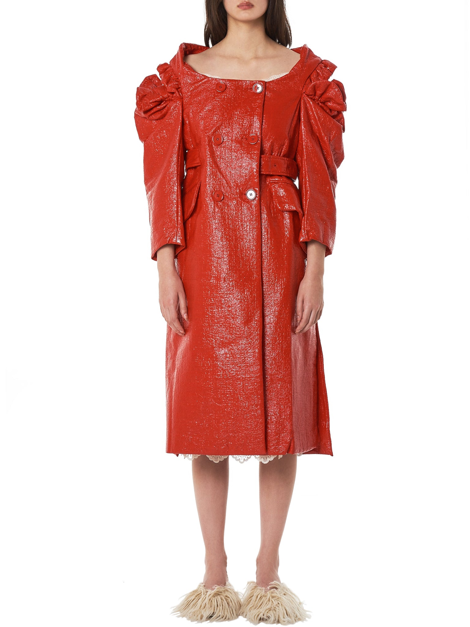 Coated Foil Cut-Out Coat (3242-0223-RED)