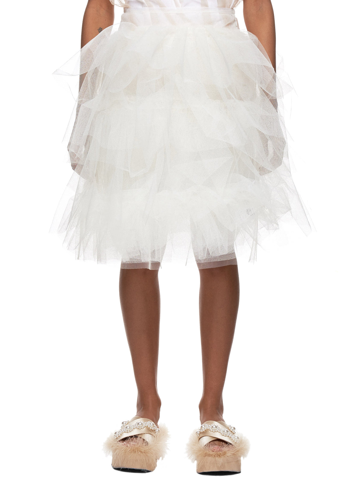 Layered Tulle Skirt (3313-0035-IVORY)