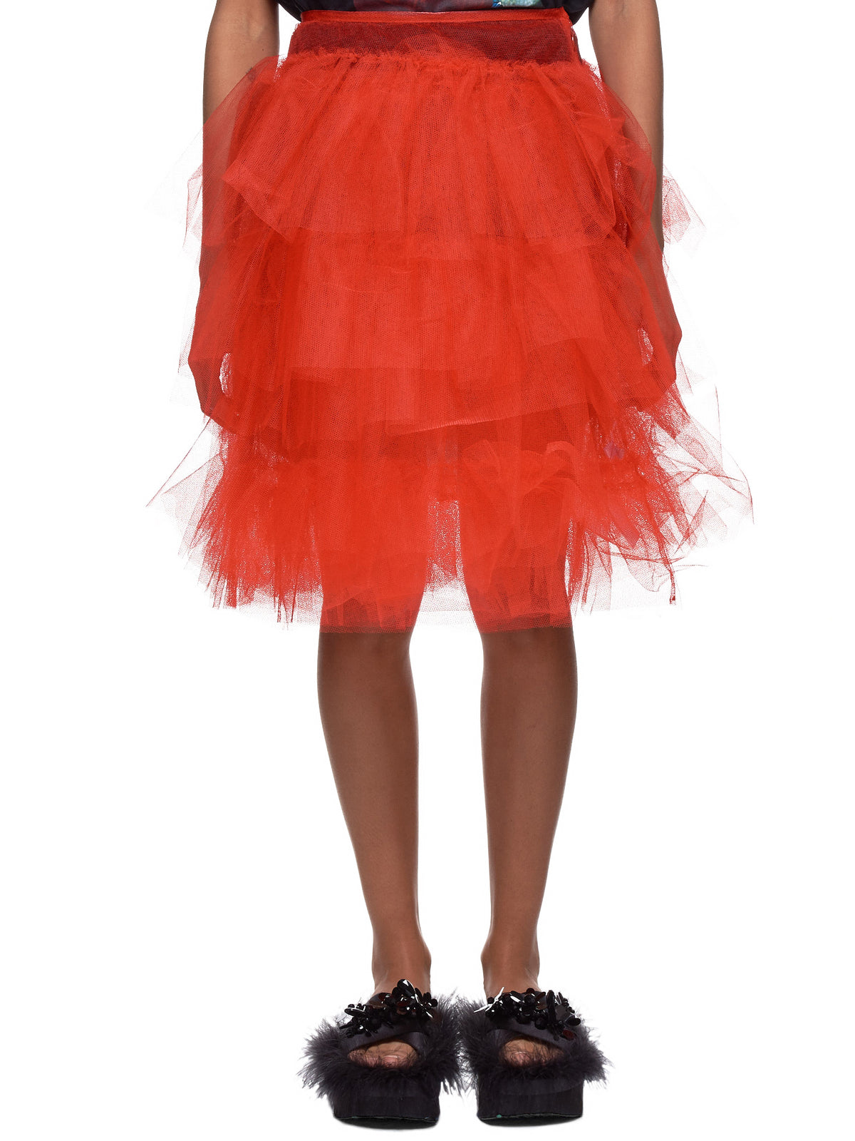 Layered Tulle Skirt (3313-0035-RED)