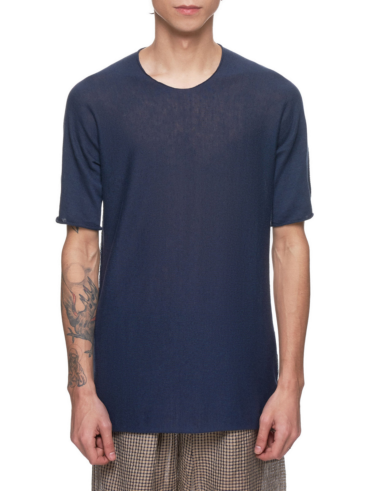 Arched T-Shirt (33YXTS299-CC14-NAVY)