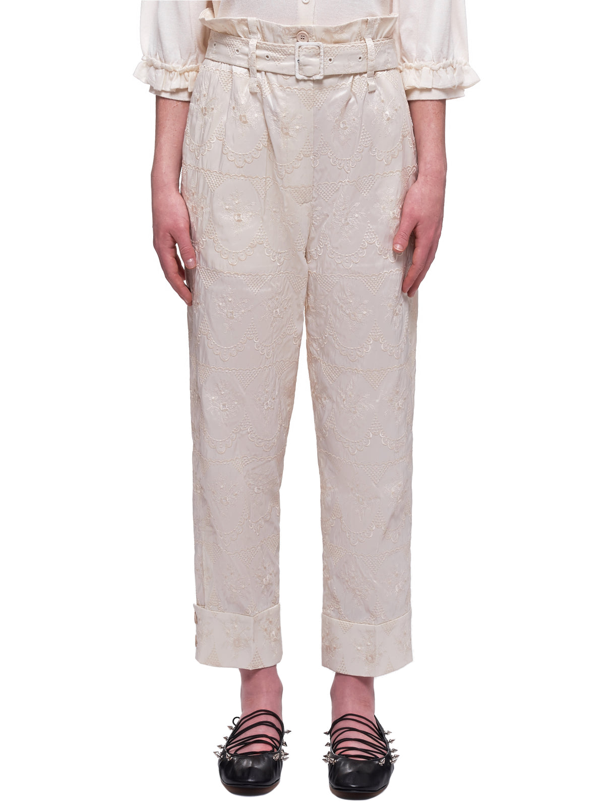Paper Bag Trousers (3430-0349-ECRU)