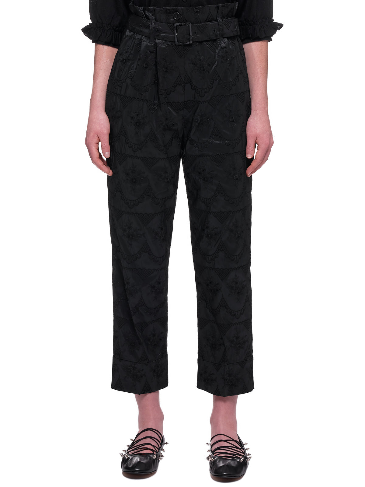 Paper Bag Trousers  (3430-0349-BLACK)