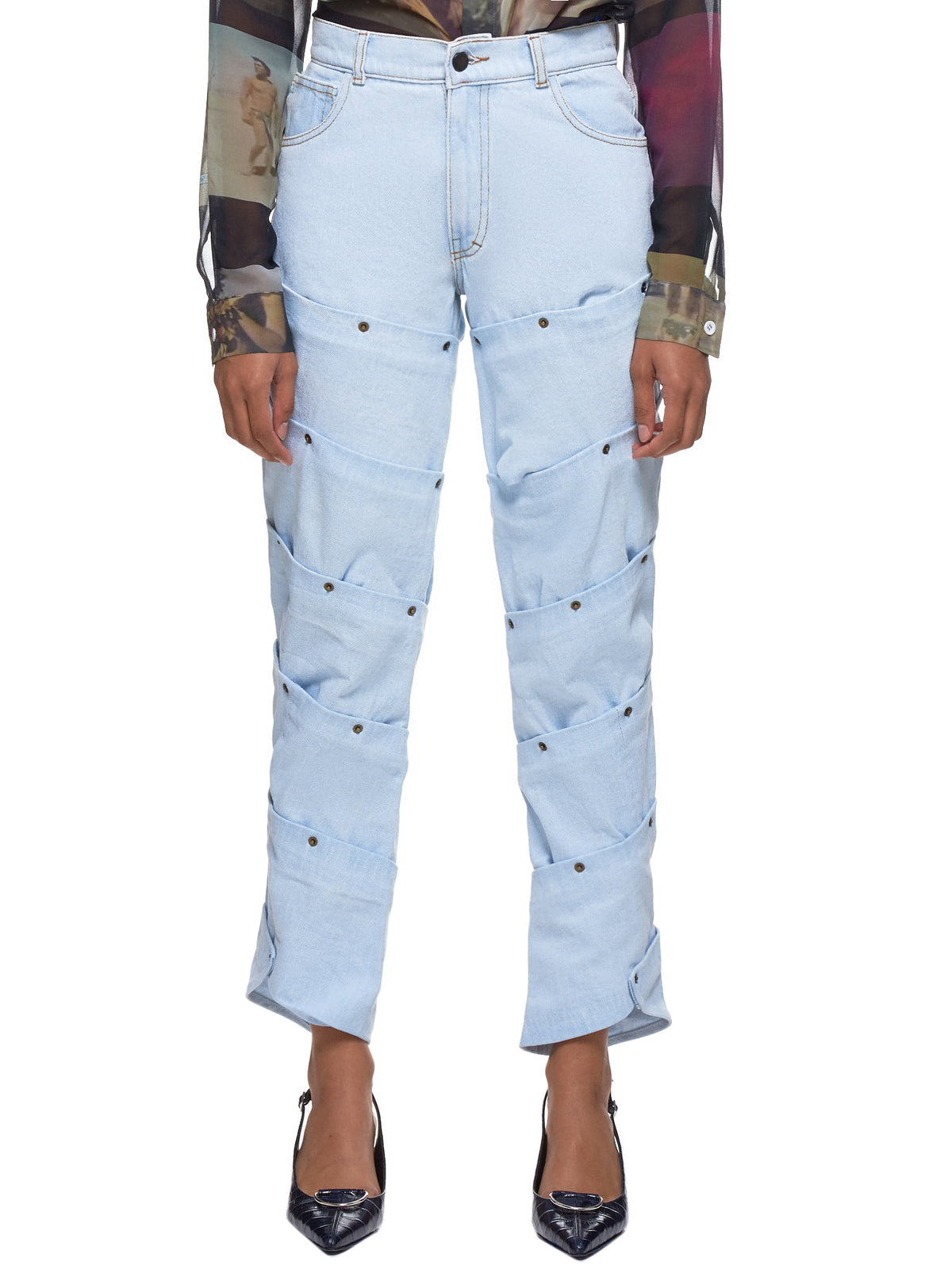 Cut-Out Jeans (35-W-LIGHT-BLUE)