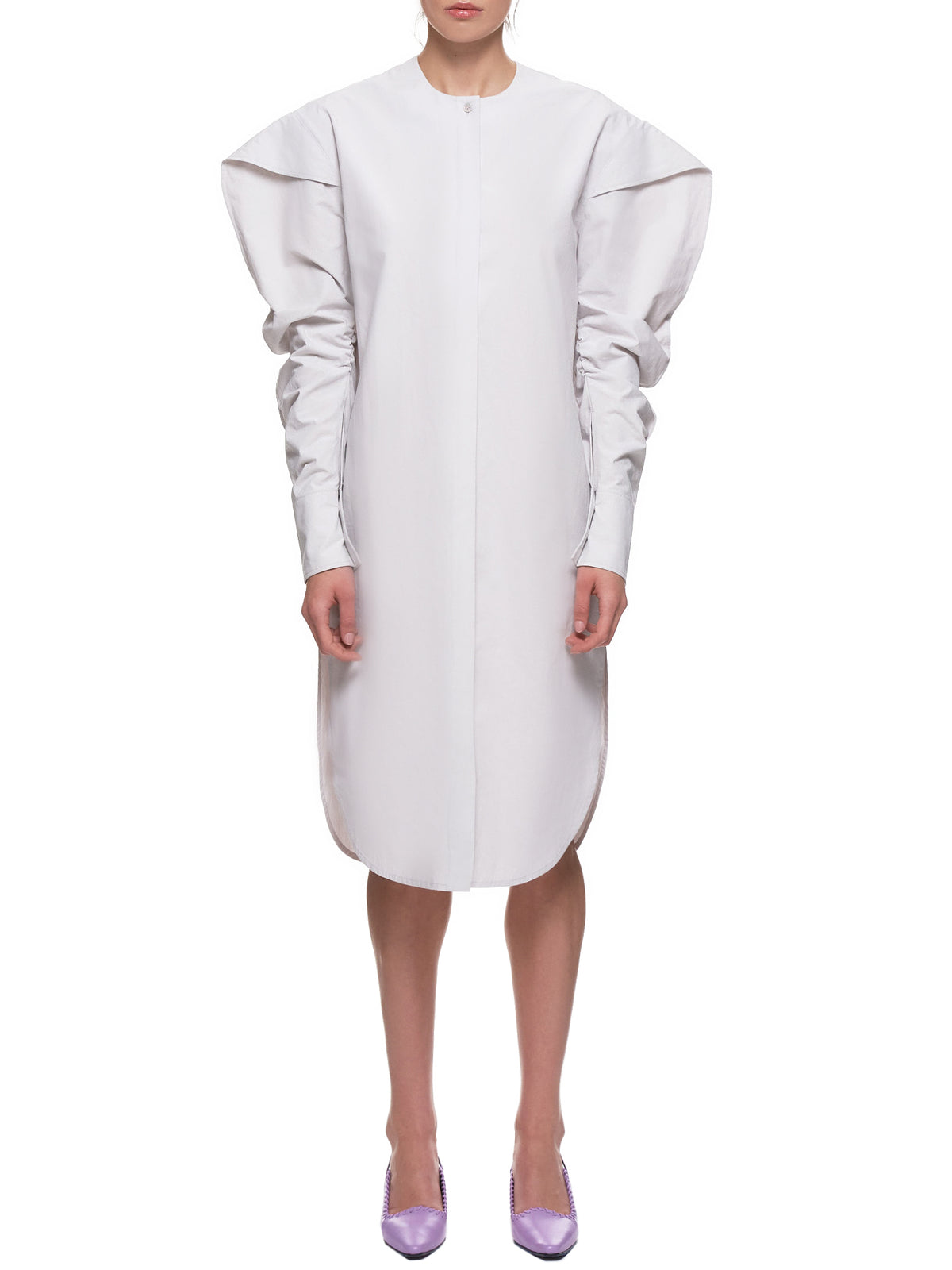 'Barocco Long-Sleeve Dress' (36-BAROCCO-GREY)