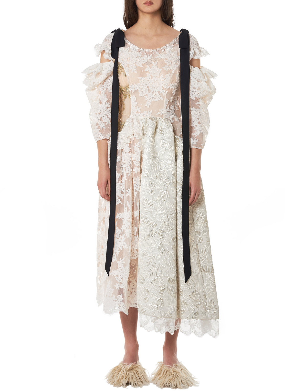 Simone Rocha Ribbon Dress - Hlorenzo Front