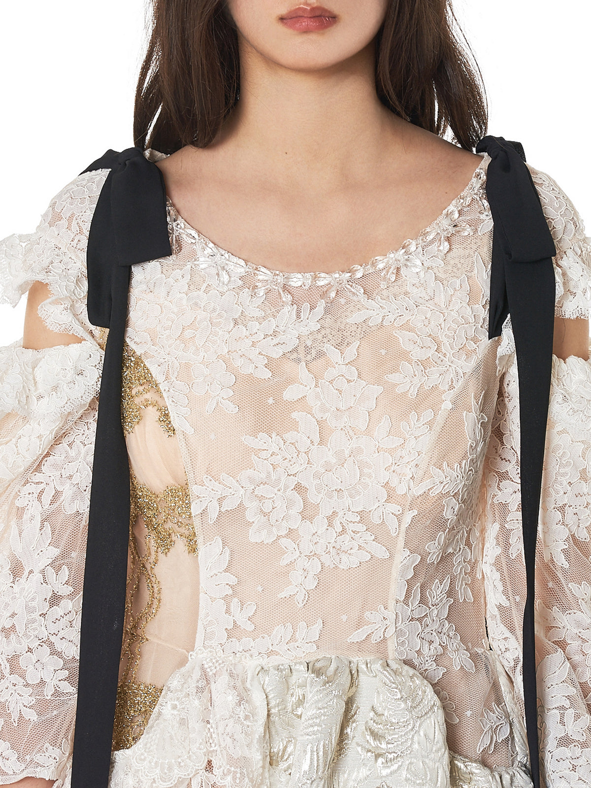 Simone Rocha Ribbon Dress - Hlorenzo Detail 2