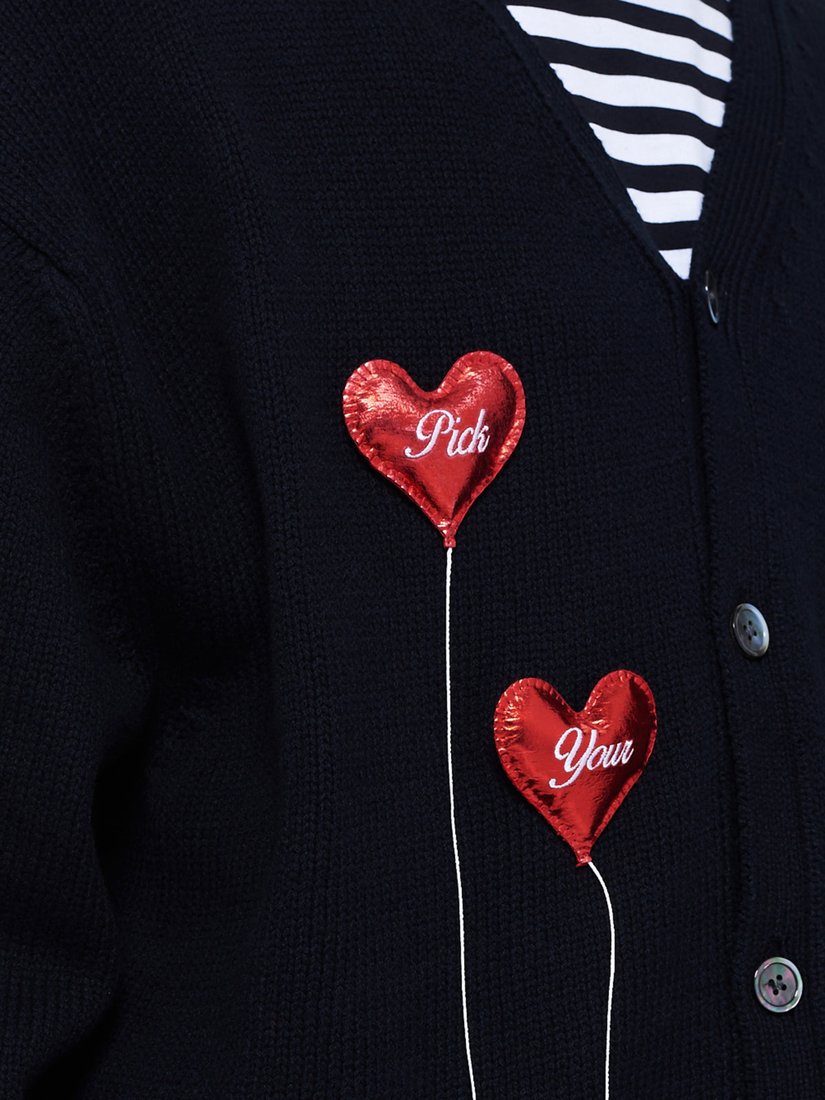 Happy Balloons Cardigan (39KN47-BLACK)