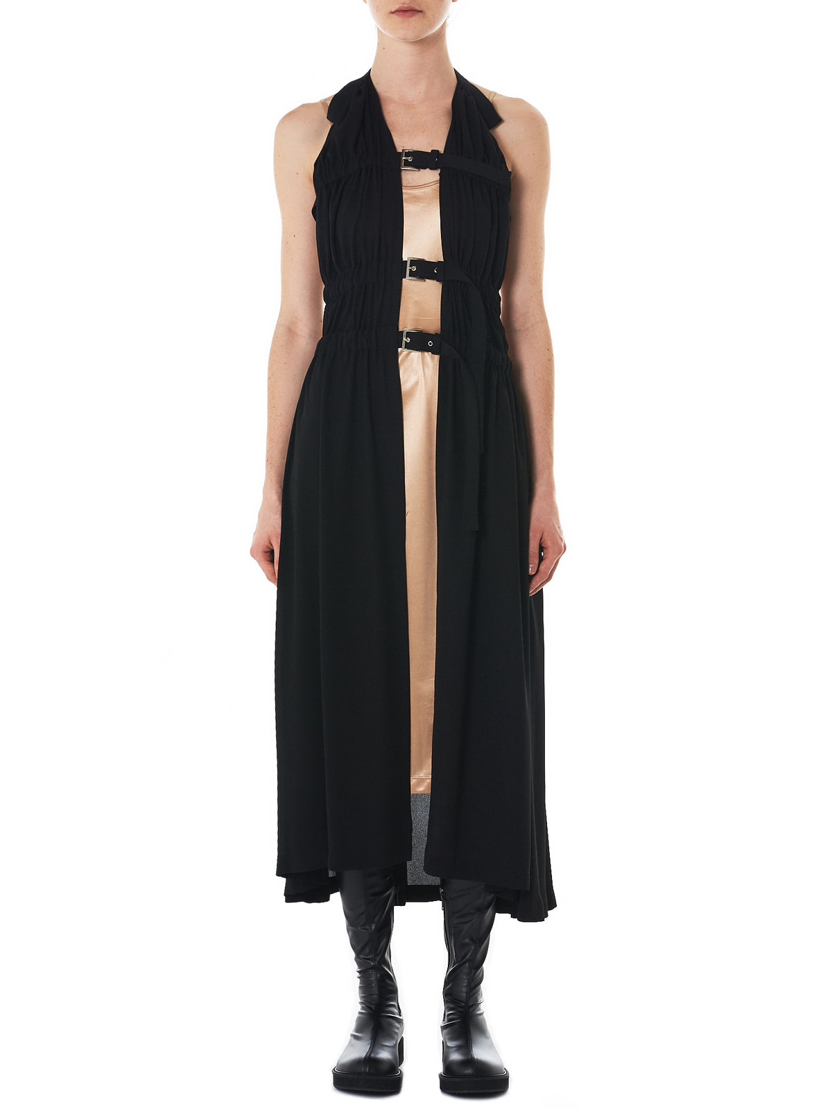 Draped Long Apron (3A-A002-051-1)
