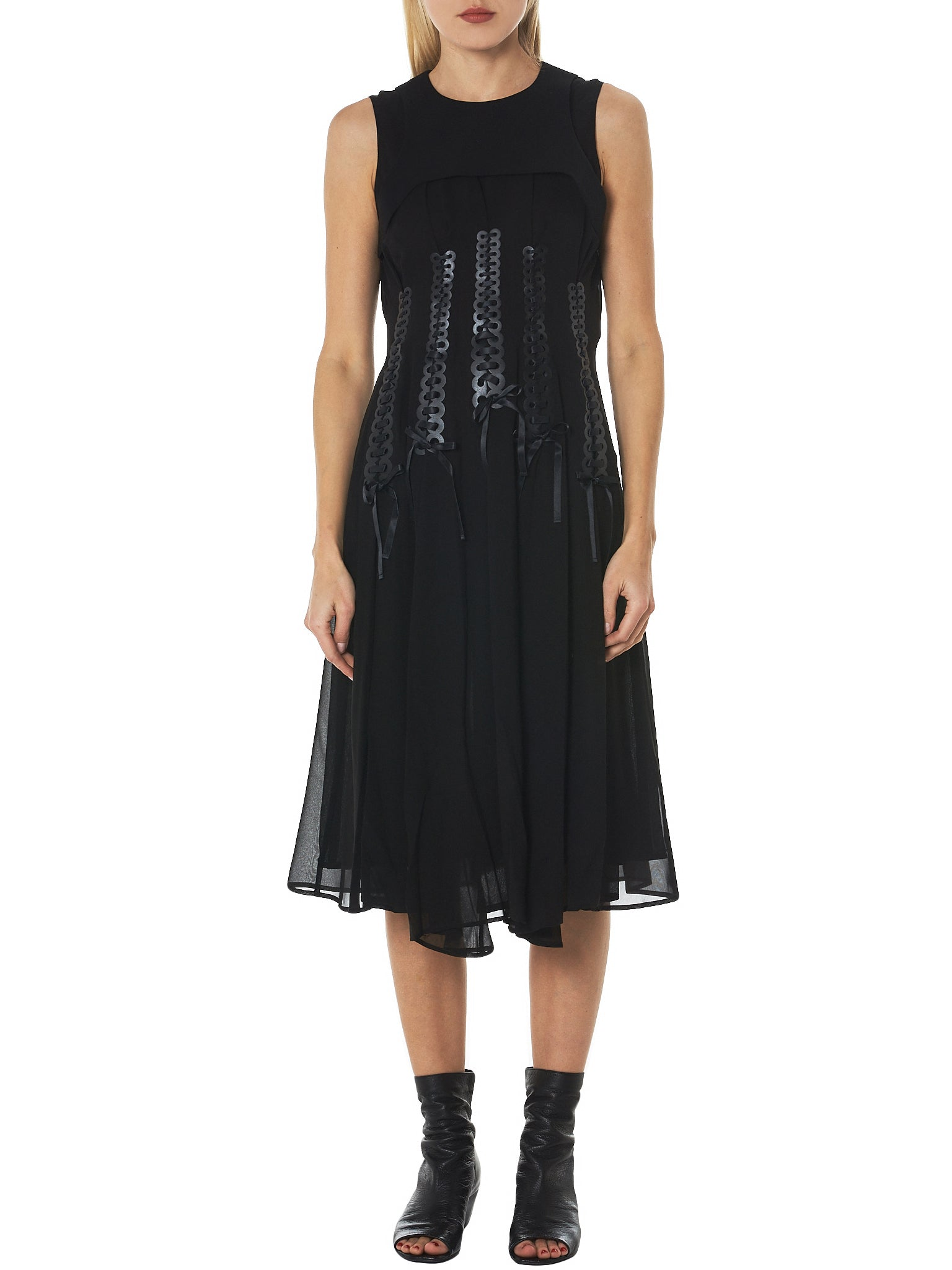 Noir by Kei Ninomiya Sleeveless Dress - Hlorenzo Front