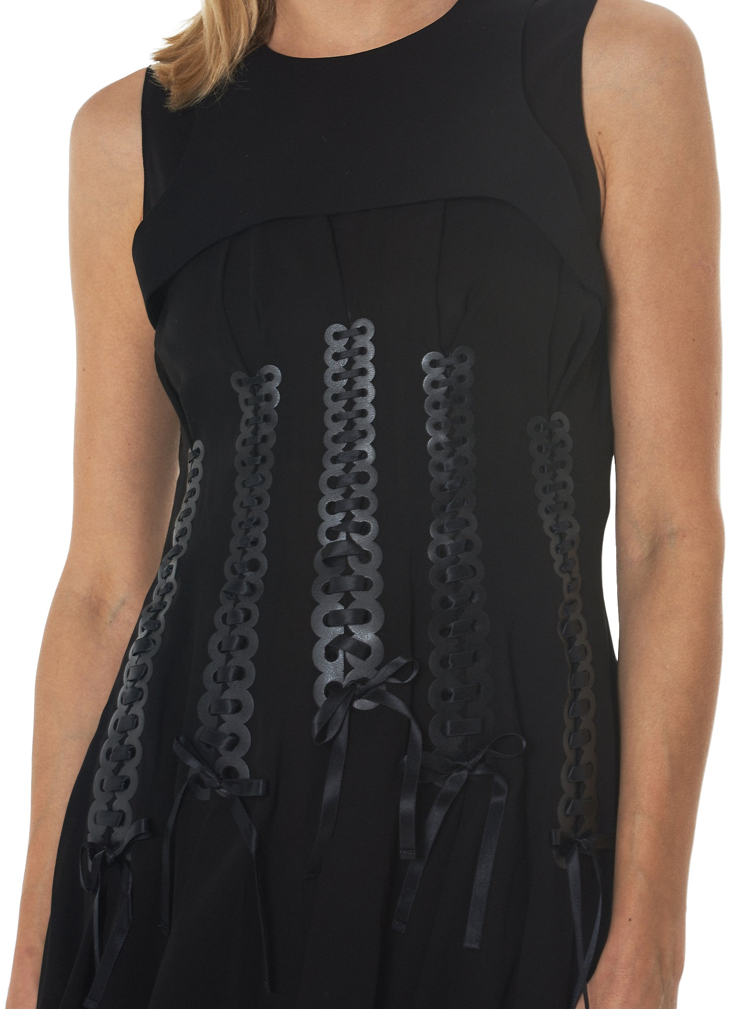 Noir by Kei Ninomiya Sleeveless Dress - Hlorenzo Detail 2