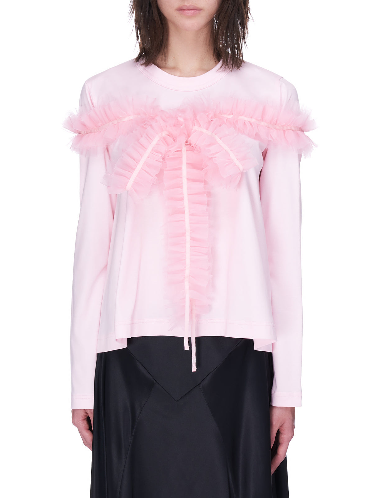 Long Sleeve Tulle Tee (3G-T011-051-PINK)