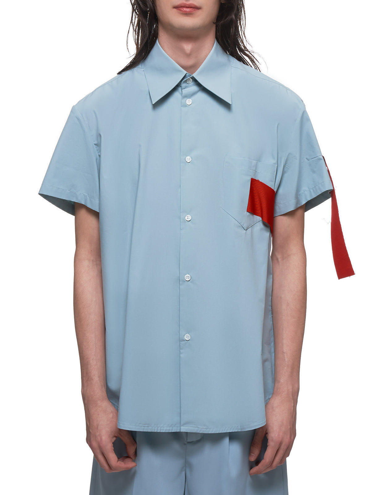 Pale Chambray Short Sleeve Shirt (4008-N1005-GRAY