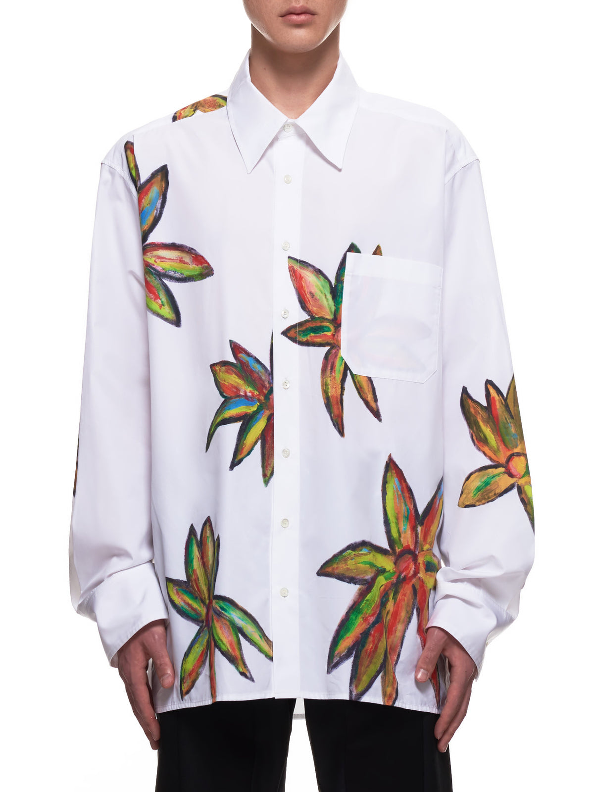 Caribe Painted Shirt (4015-W049-WHITE)