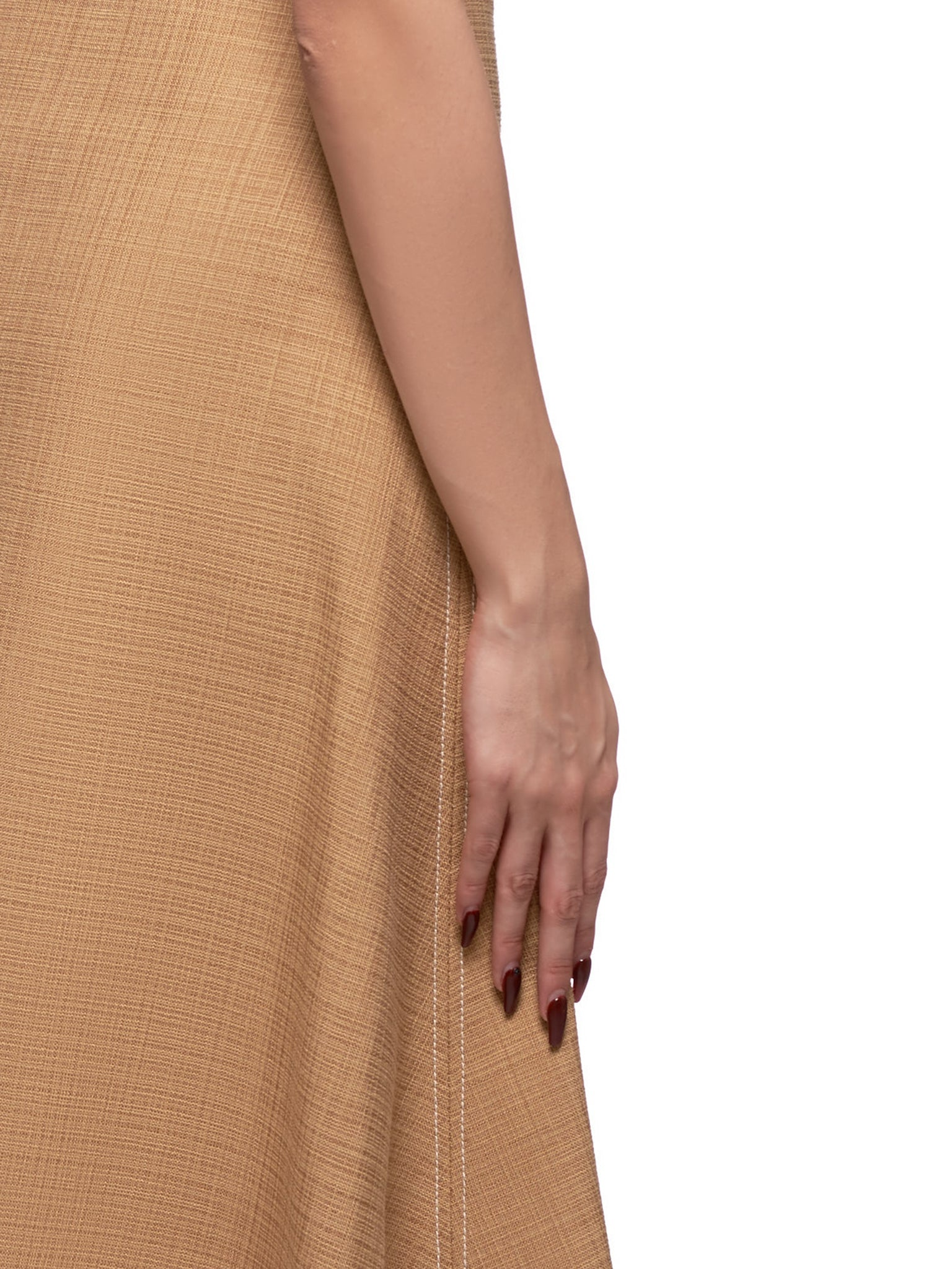 High Waisted Skirt (4031-173-TAN)
