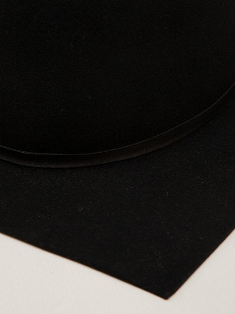 Wool Square-Brim Hat (06A114 BLACK) - H. Lorenzo