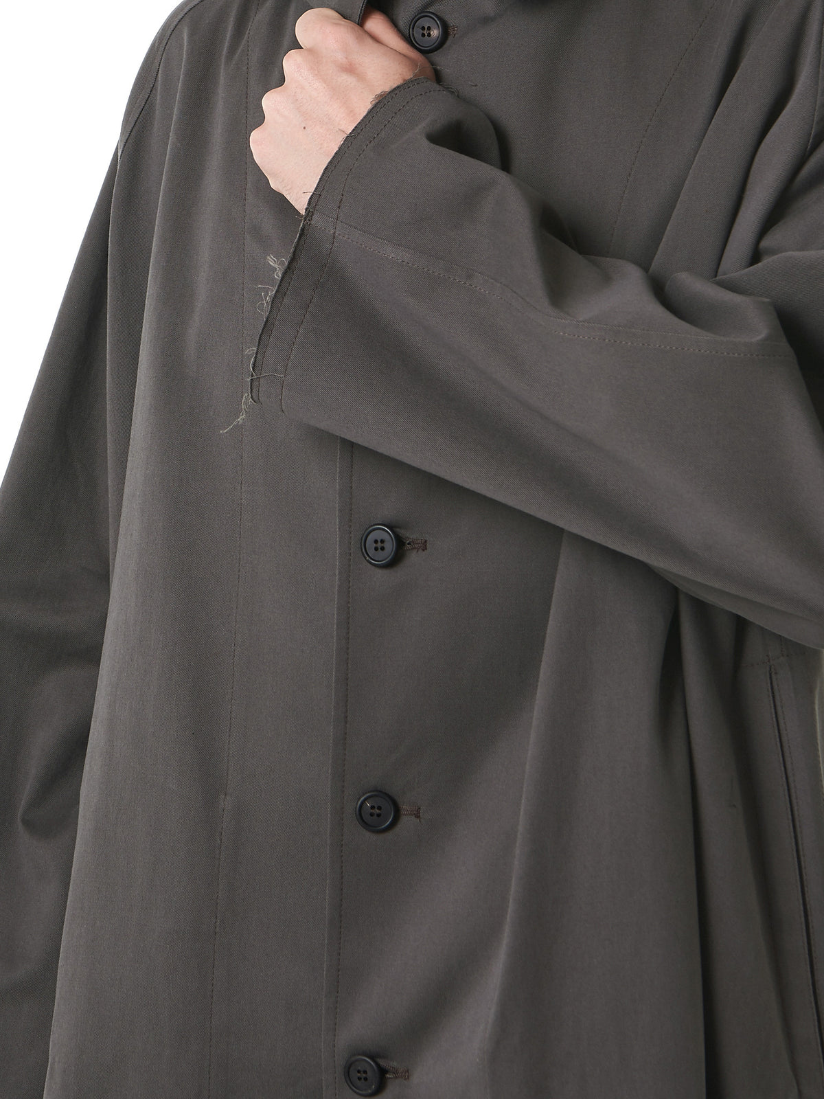 'Gabardine' Single-Breasted Coat (516-GR-GREEN) - H. Lorenzo