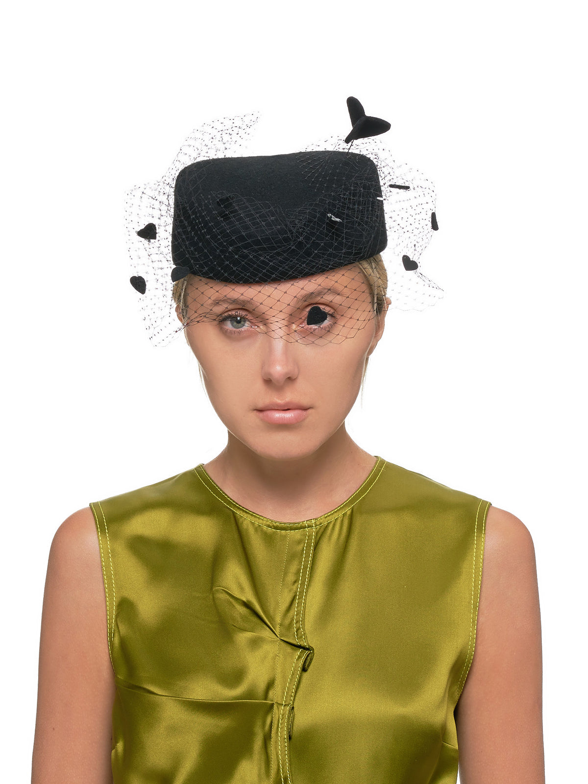 Pillbox Hat (540-MUCH-LOVE-BLACK)