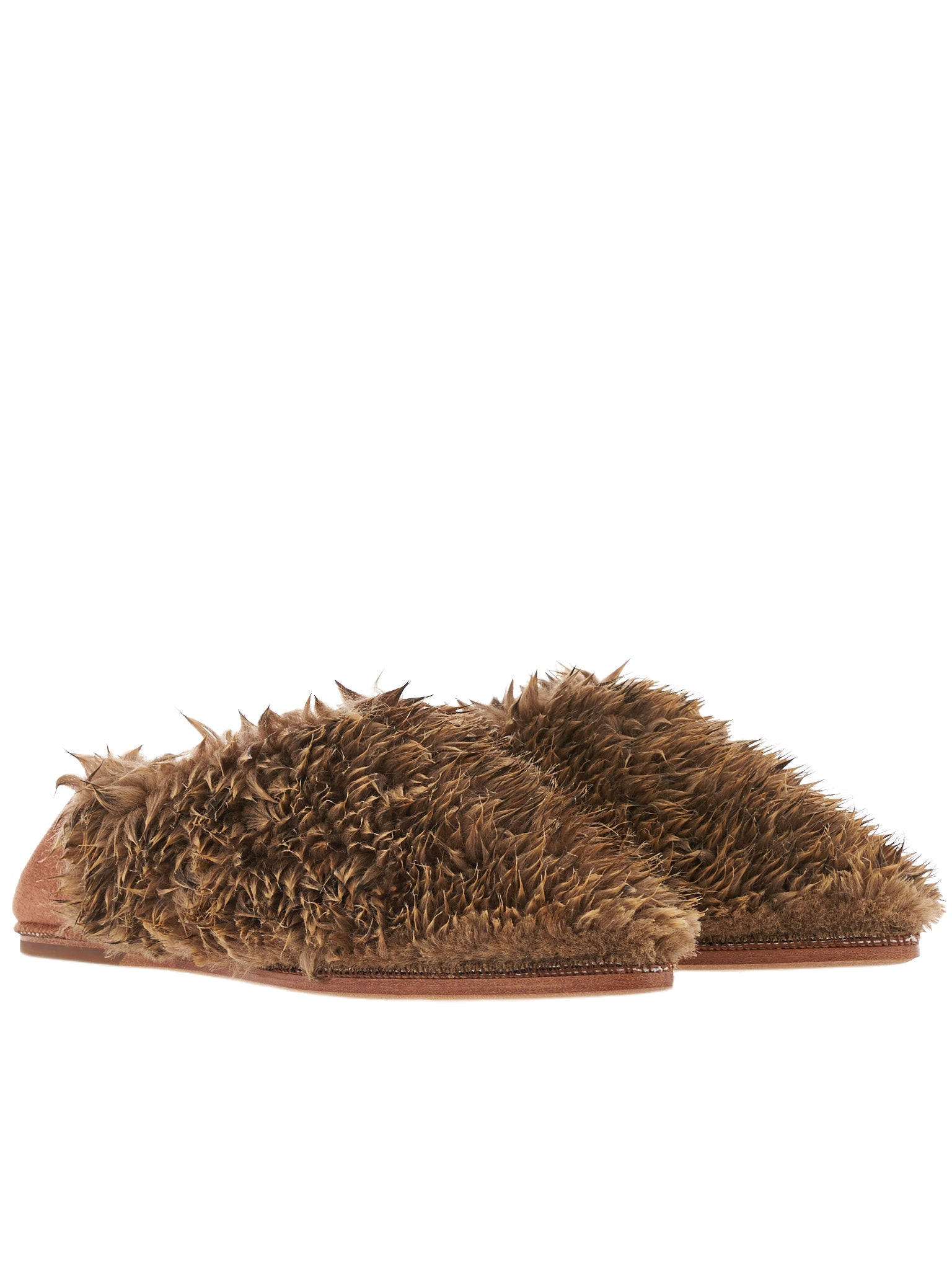 Spiked Fur Loafer (55FT38-LEOPARD)