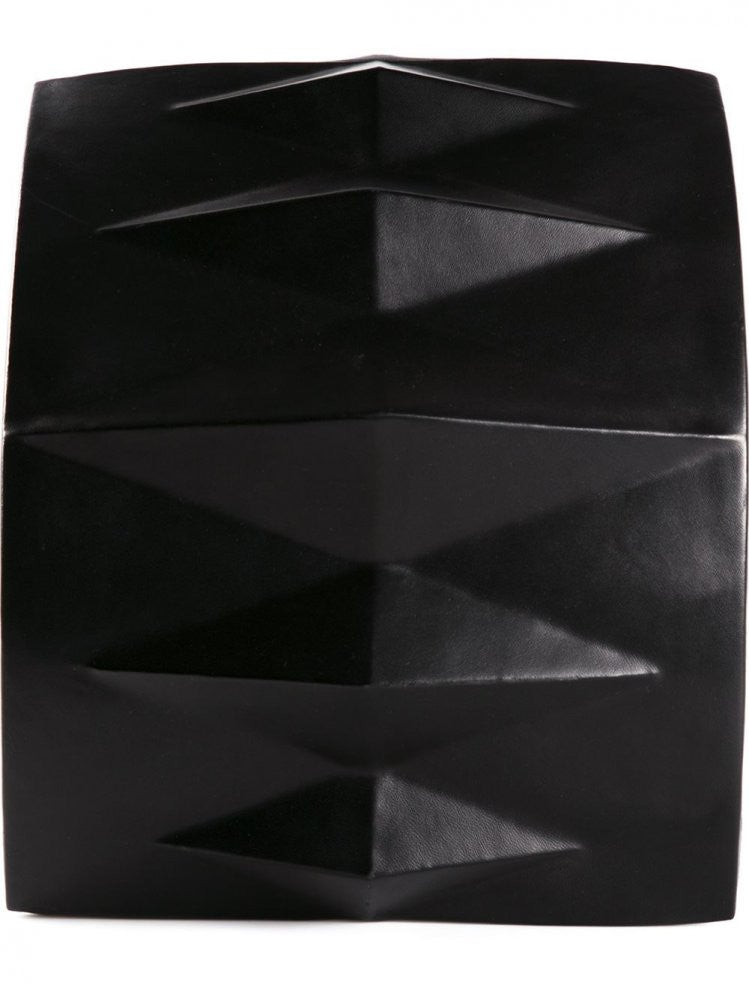 Leather 'Geometric Spinal' Backpack (GEOMETRIC SPINAL BLACK) - H. Lorenzo