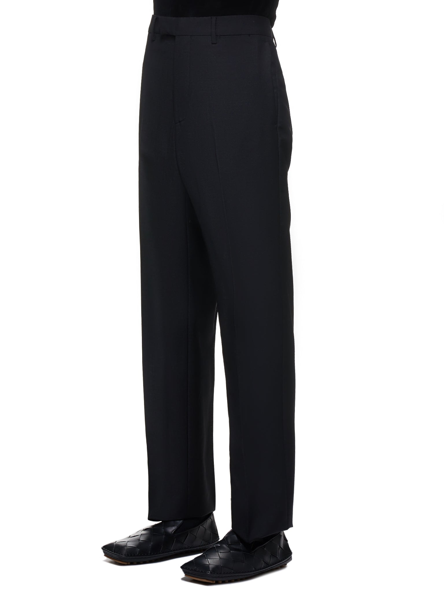 Tailored Mohair-Blend Trousers (569709V0KI1-BLACK)