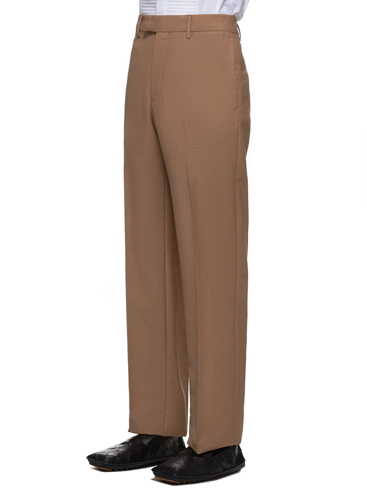 Tailored Mohair-Blend Trousers (569709V0KI1-CAMEL)
