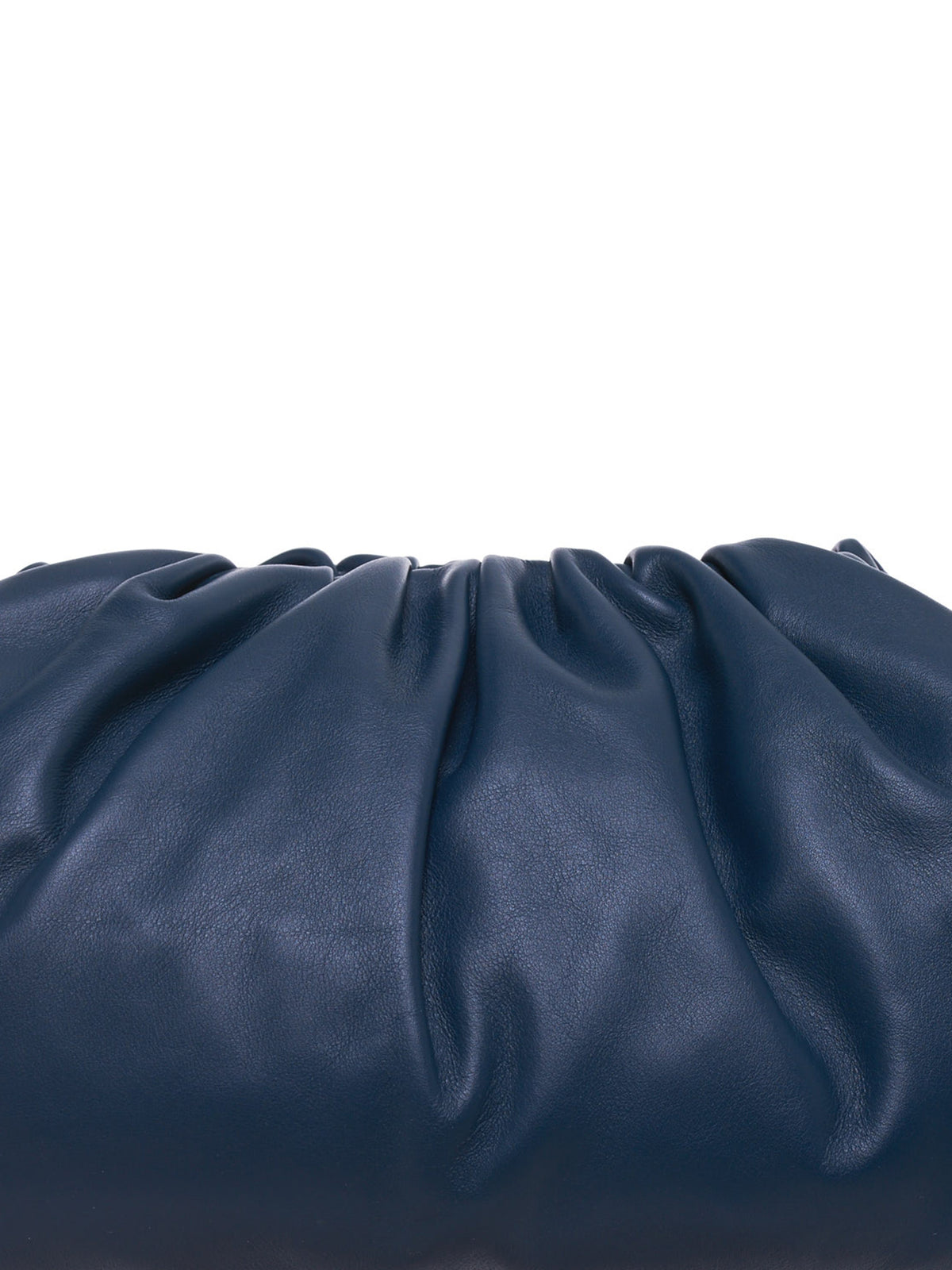 Gathered Leather Clutch (576227VBIU5-3126-DEEP-BLUE)