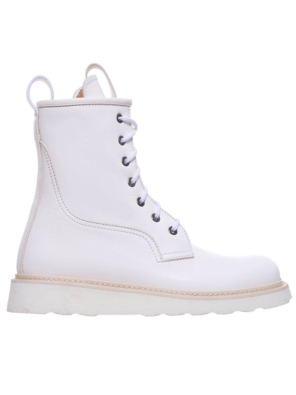 Lace-Up Boots (578289VIFH0-WHITE)