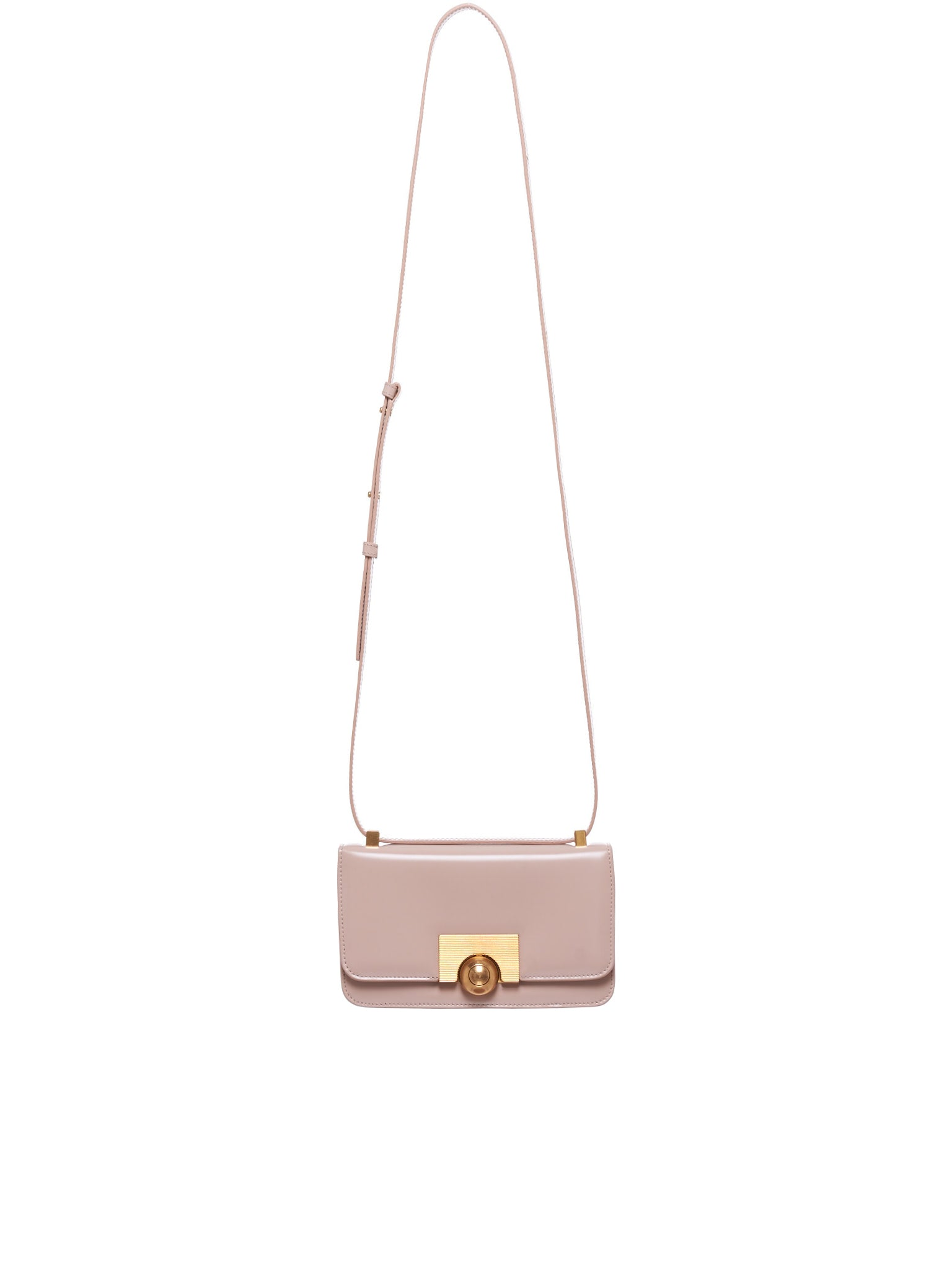 Push-Button Shoulderbag (587222VCPI1-6950-NUDE)