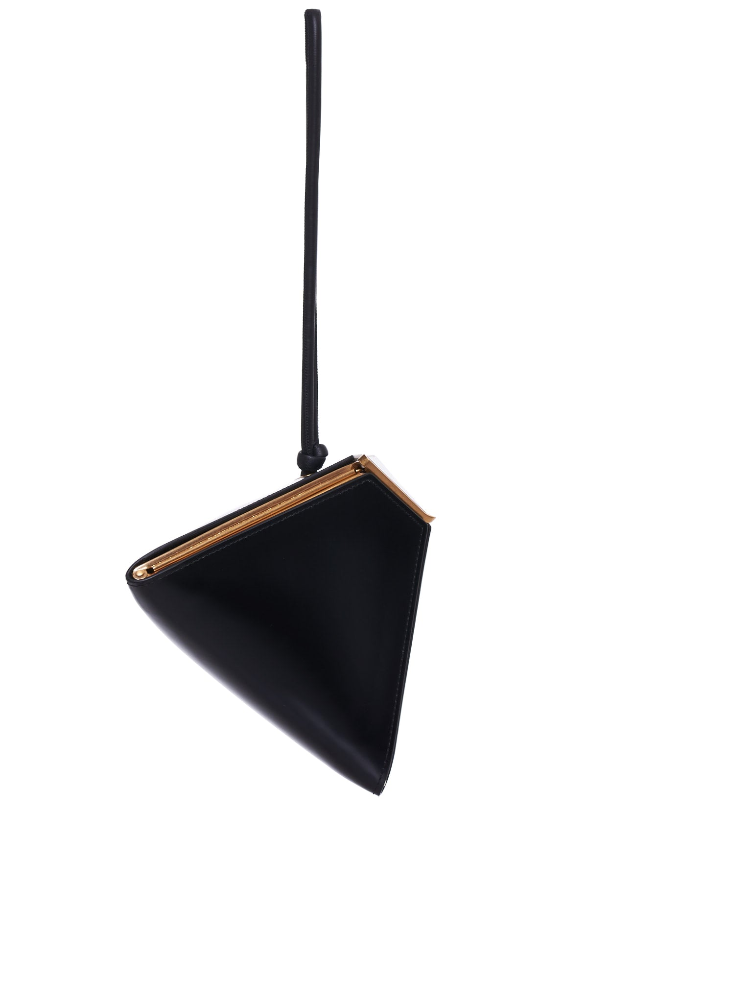 Pyramid Handbag (591667VCPI2-8648-BLACK-GOLD)