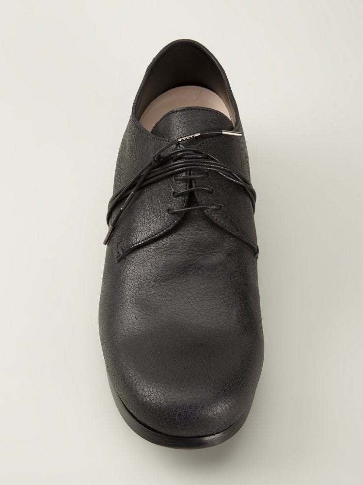 'Cracked' Leather Derby (BNSHOE 1 MAN BLACK) - H. Lorenzo