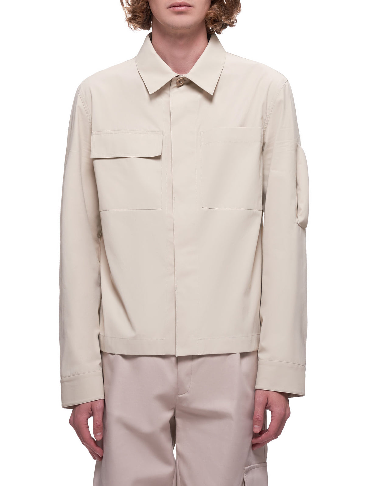 Resinated Shirt-Jacket (599769VKM40-9733-SAND)