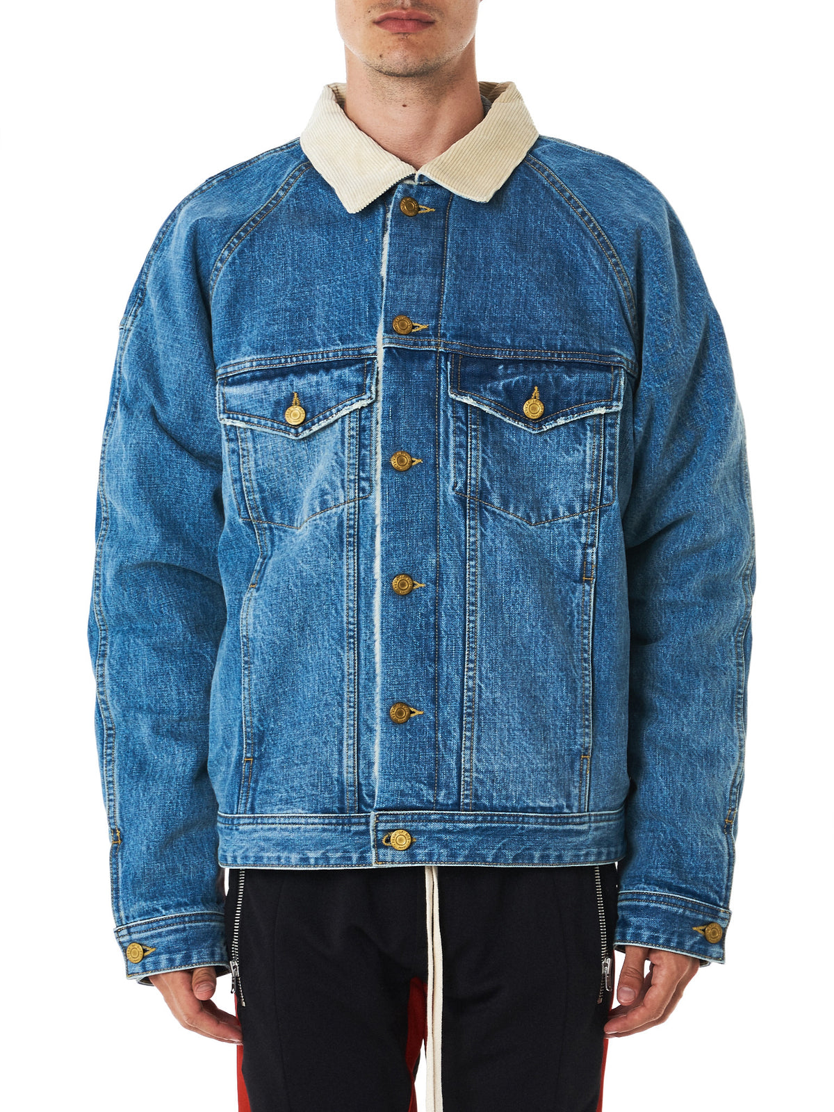 Fear of God denim jacket front view
