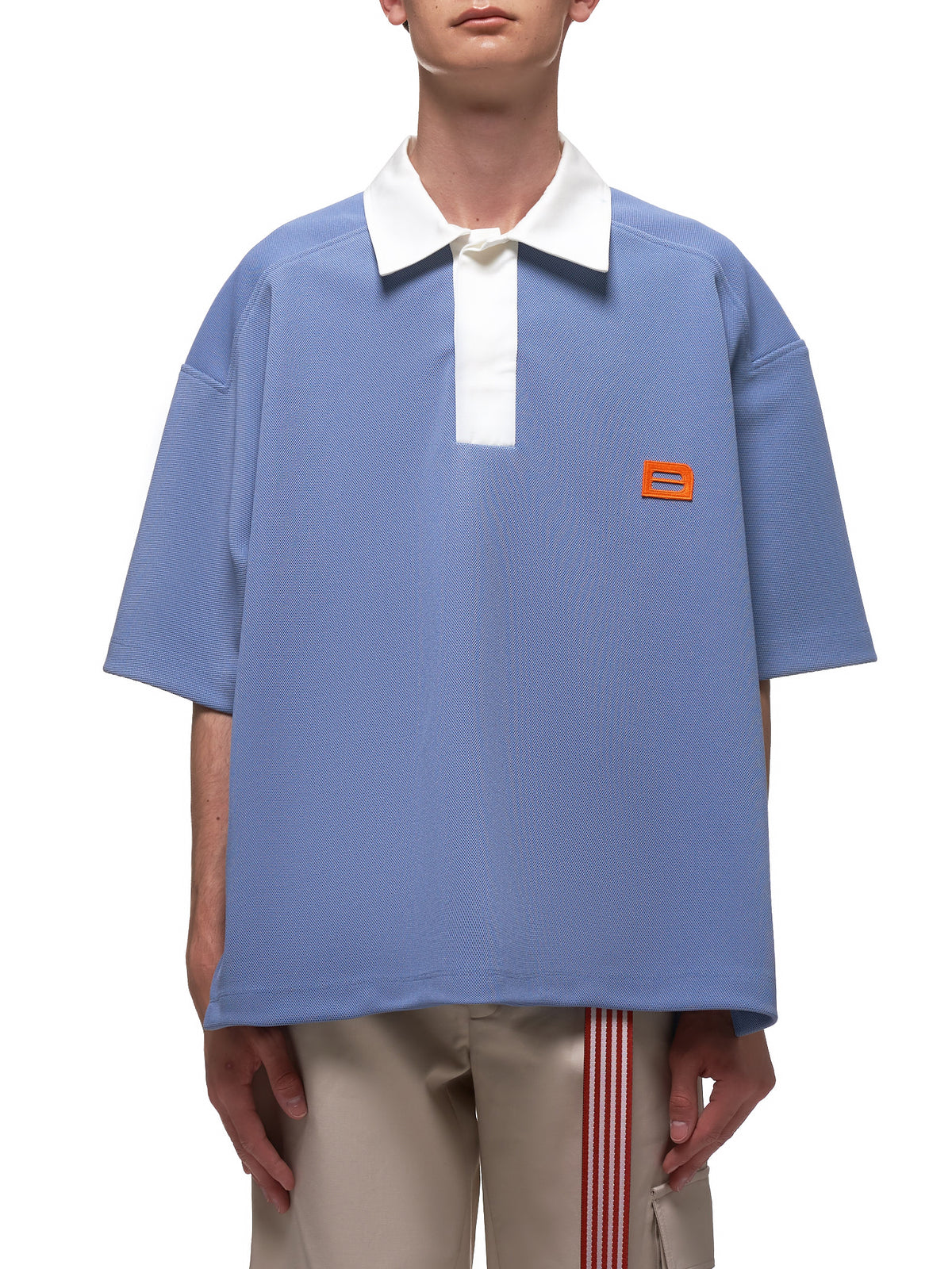 Oversized Sports Polo (6003-J001-PURPLE-BLUE)