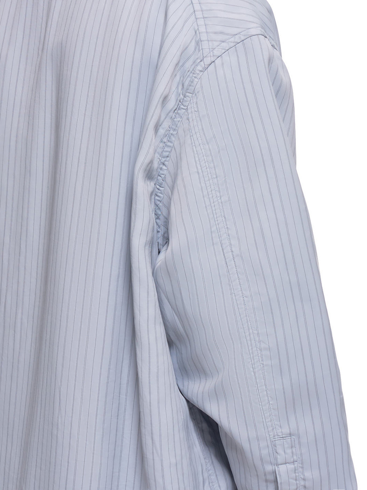Pinstripe Cape Shirt (600836-OXFORD-BLUE)