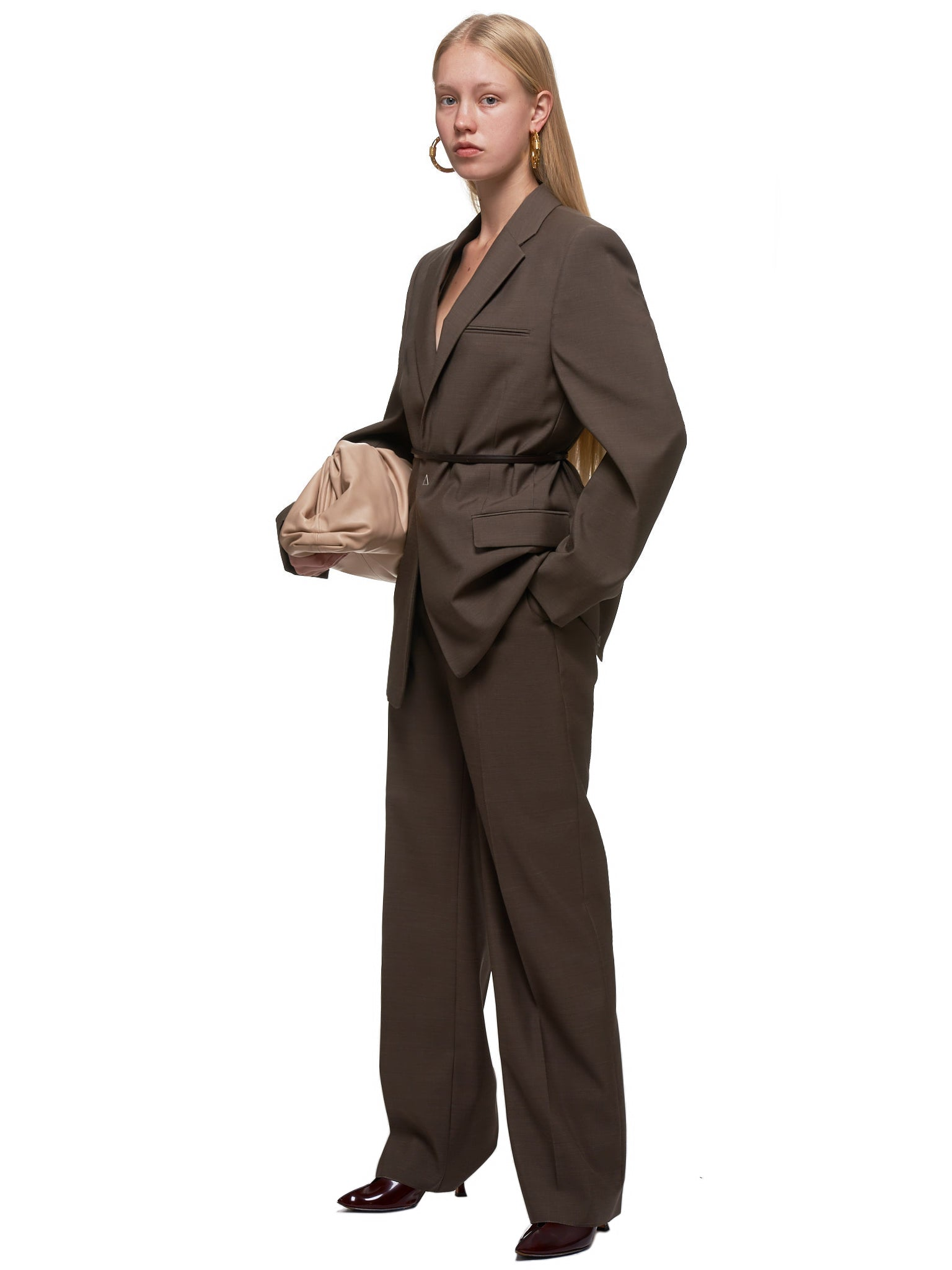 Tailored Jacket (606463VKIU0-2859-BROWN-MELAGE)