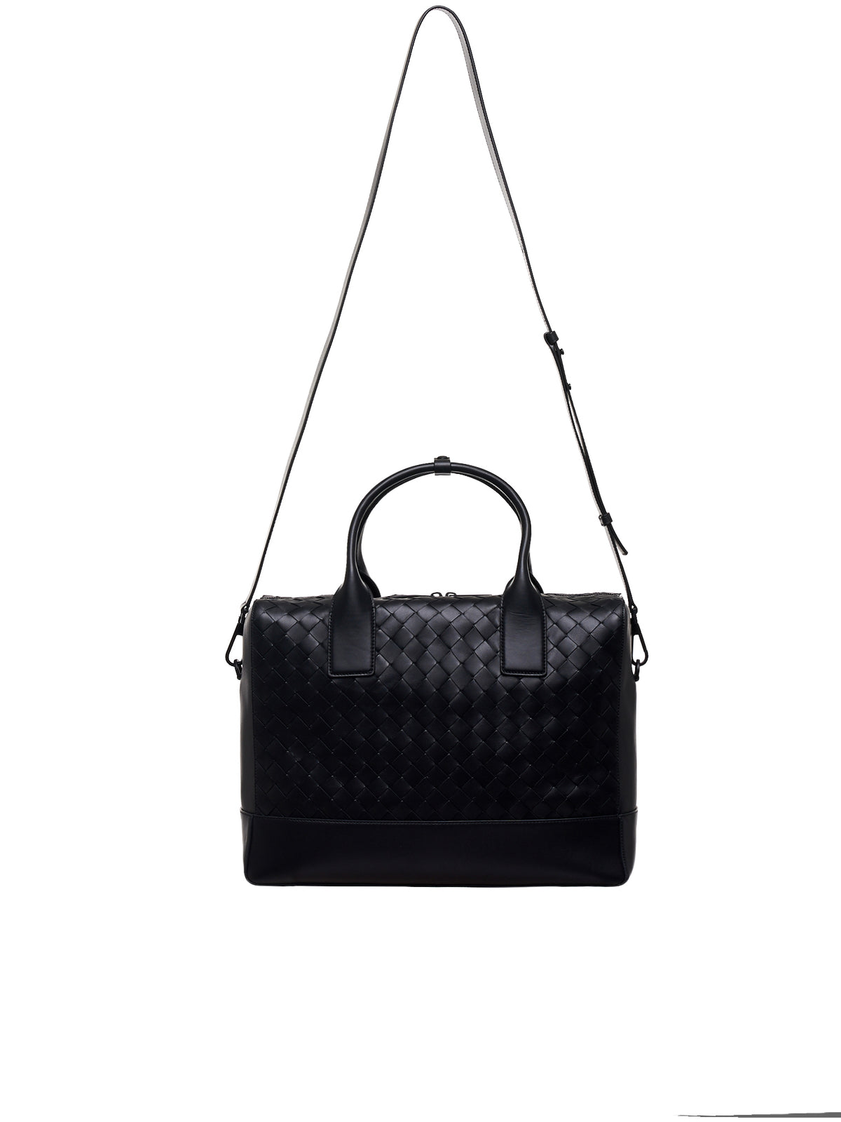 Woven Briefcase (609206VCPQ1-8984-MATT-BLACK)