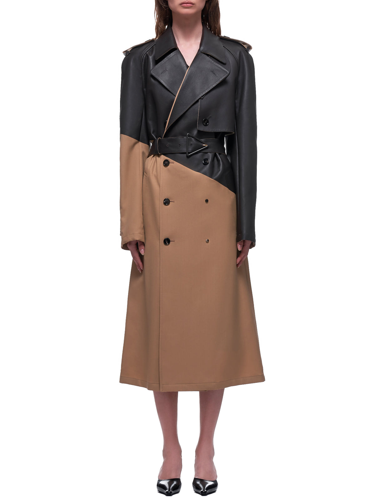 Wool Trench Coat (610475VA5O0-2640-CAMEL)