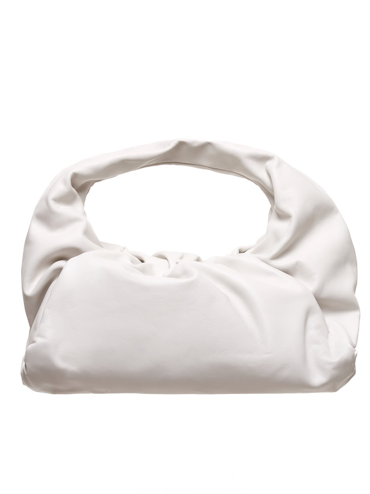 The Shoulder Pouch (610524VCP40-9007-BIANCO-SILVER)
