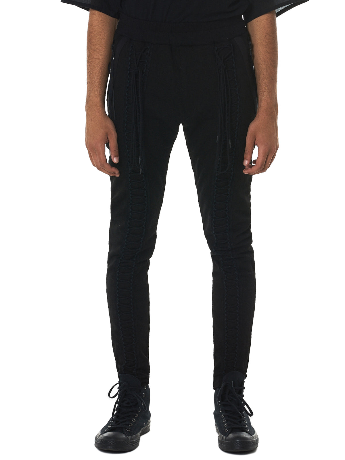 Julius Lace-Up Pants - Hlorenzo Front