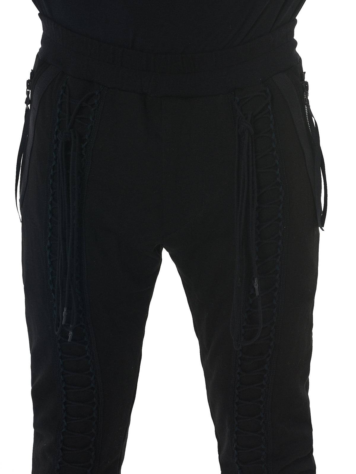 Julius Lace-Up Pants - Hlorenzo Detail 2