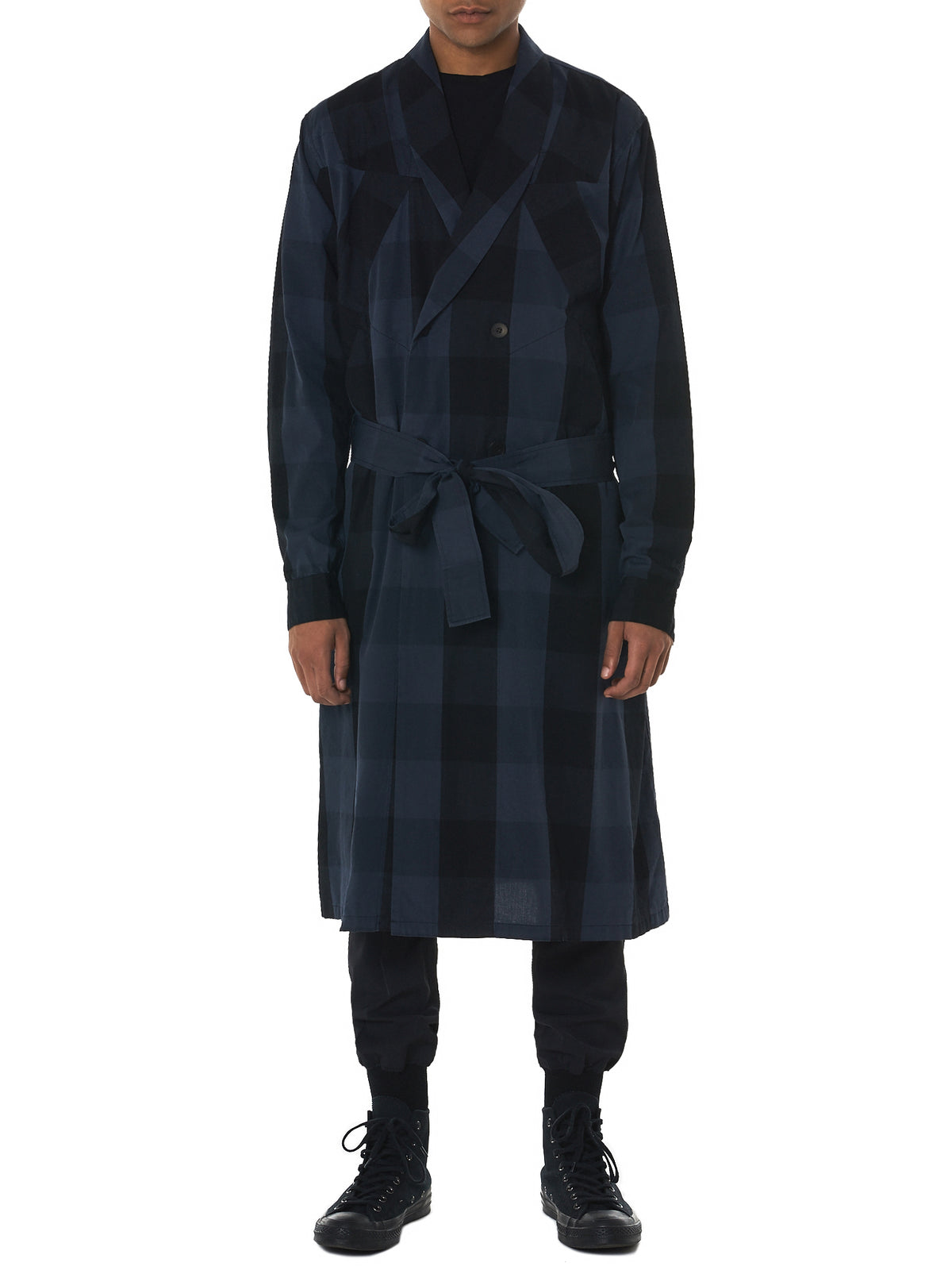 Julius Plaid Coat - Hlorenzo Front