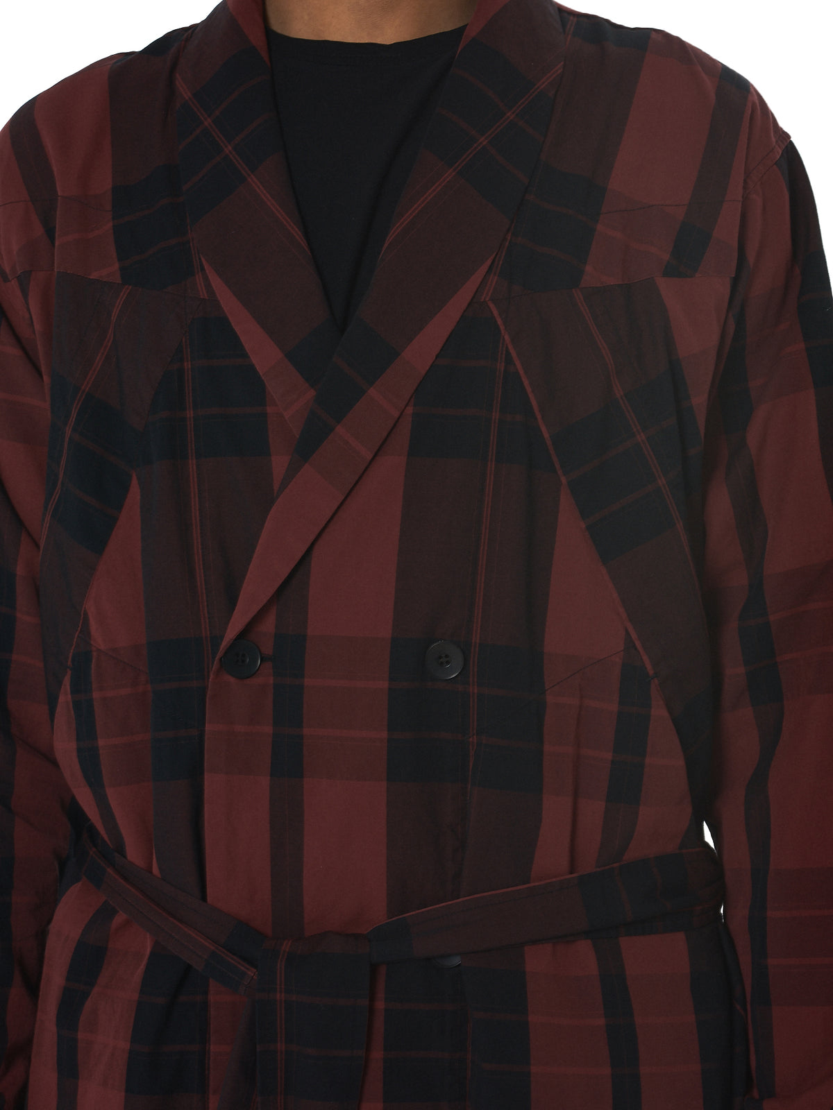 Julius Plaid Coat - Hlorenzo Detail 2
